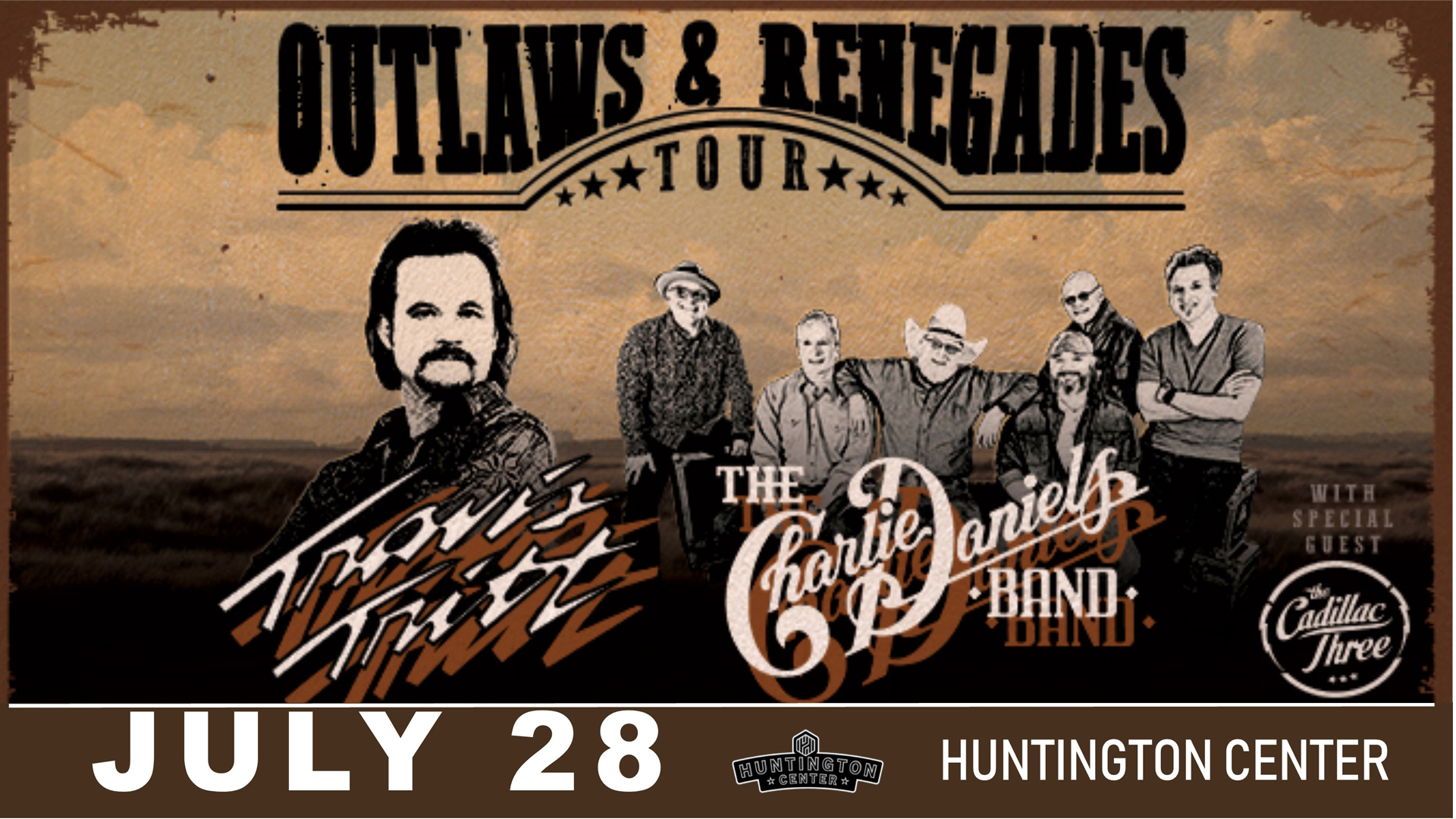 Travis Tritt and Charlie Daniels Band @ The Huntington Center